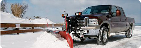 Truck doing commercial snow removal
