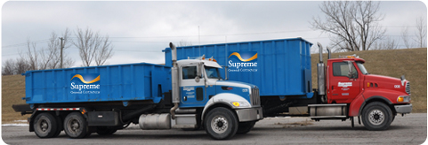 Supremem disposal bins on trucks